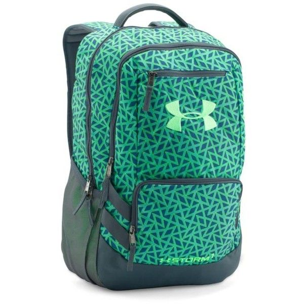 Under Armour Csp-Sty-Lml Storm Hustle Ii Backpack ($55) ❤ liked on Polyvore featuring bags, backpacks, light weight backpack, blue backpack, rucksack bag, knapsack bag and lightweight daypack