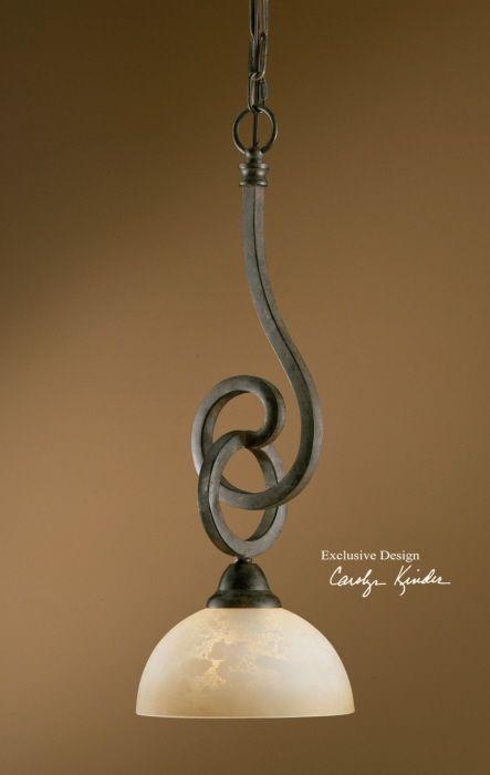 Tuscan Pendant Light Old World Mini Hanging Chandelier