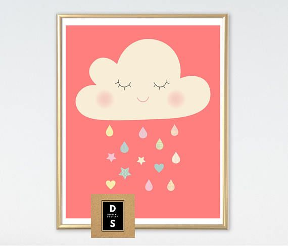 digital printable nursery girl girls wall art decor