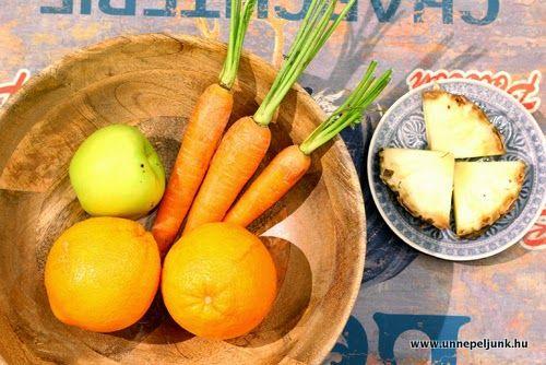 Ananászos turmix recept