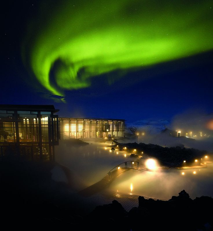 #Northernlights over Icelands Blue Lagoon