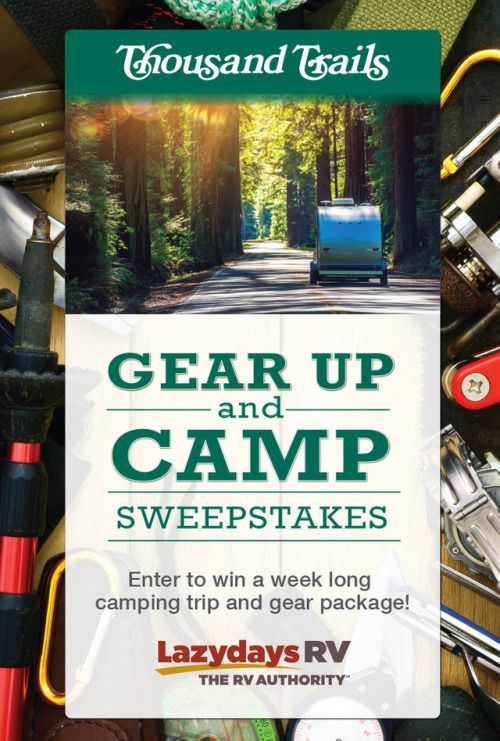Gear Up and Camp win camping stay and camping gear {us} ends... IFTTT reddit giveaways freebies contests