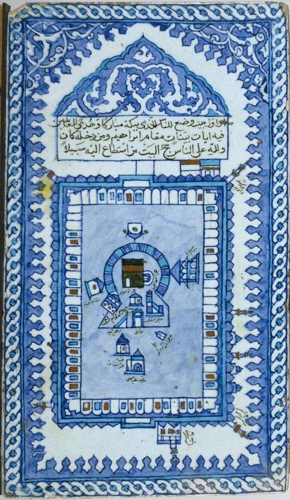 Tile with the Great Mosque of Mecca, Turkish artist 17th century (Ottoman period) Metropolitan Museum of Art