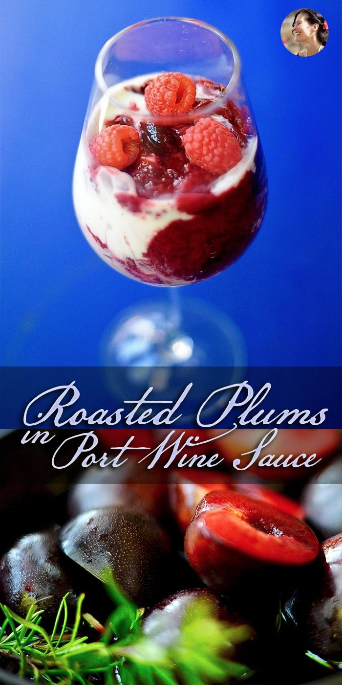 Plum season has arrived! Dessert couldn't be simpler or more delicious than roasting up fresh plums in sweet port wine and tossing in a fresh rosemary sprig. Take advantage of these glorious summer fruits. Even plums that are not perfectly ripe will blossom with flavor and texture if you give them a good roast in aromatics. via @SunnysideHanne