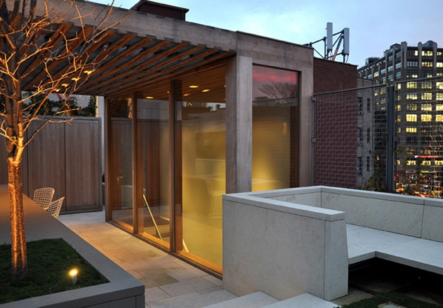Best Roof Deck Glass Enclosed Stairs Patios And Pools 640 x 480
