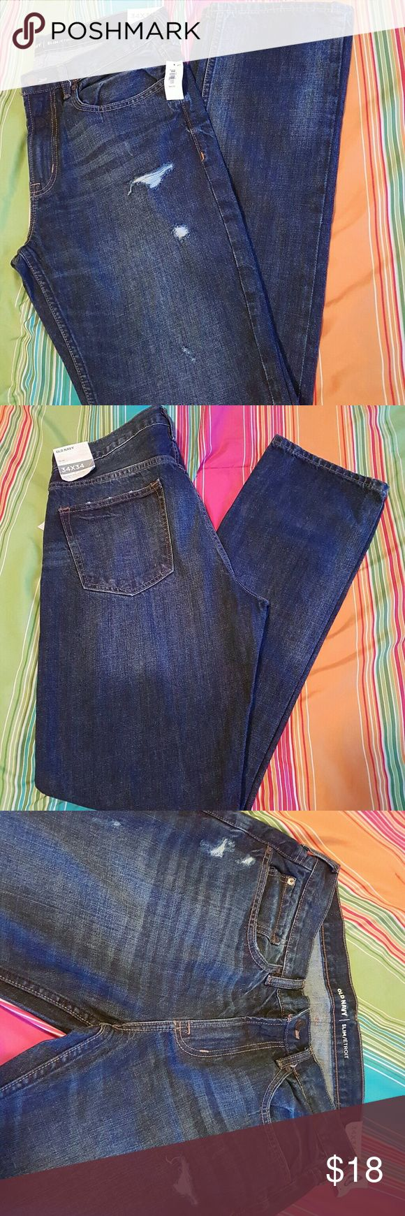 NWT Old Navy men's jeans size 34 New with tags Old Navy slim cut jeans, size 34 x 34.  Thanks for looking. Old Navy Jeans Slim
