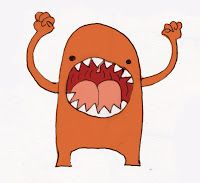 Little monster character.