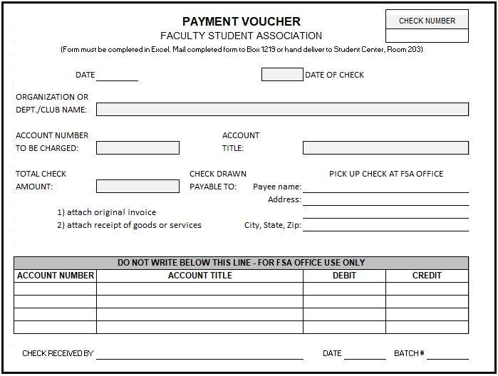 Payment Voucher Templates 17 Free Printable Word Excel Pdf Formats Voucher Student Association Words