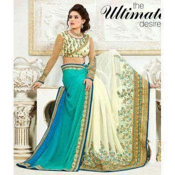 9 besten Precious Heavy Embroidered Wedding Wear Saree Bilder auf ...