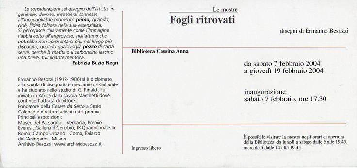 2004 Retro invito Cassina Anna
