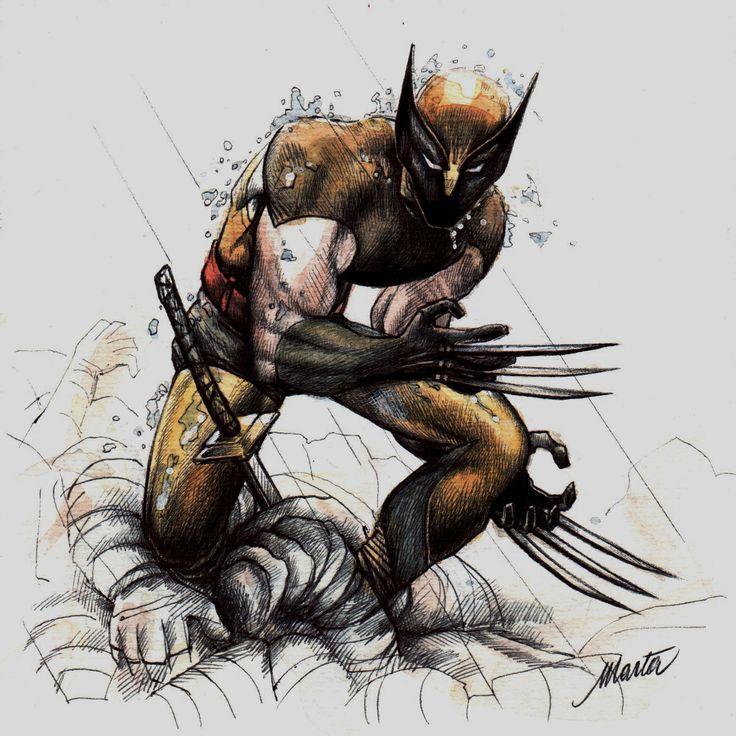 Wolverine: acquerello e penna su carta.