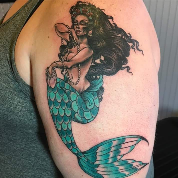 Sleeve Ink Tattoo Arm Color Tattoo Mermaid Saint: 39 Best Tats By The Best! Images On Pinterest