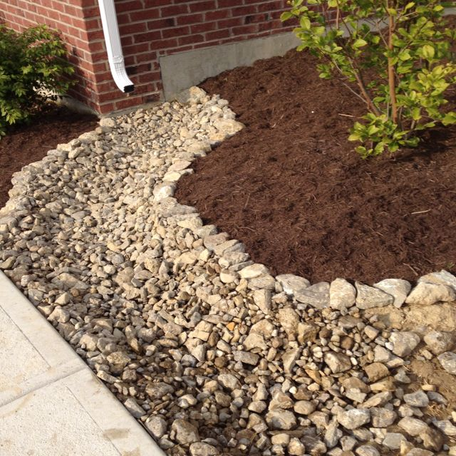 Love to make a dry rock bed similar to this. I have gutters on each side of walkway. Would like to follow the natural flow of the rain water and make a small cross over bridge to allow rainwater to flow away from house.