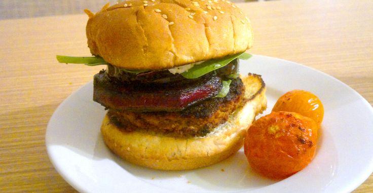 Veggie burger...it is a sin! :D