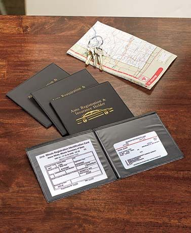 Keep your auto registration and insurance documents easy to find in this specially designed wallet. With the set of 4, you get one for yourself and 3 family mem