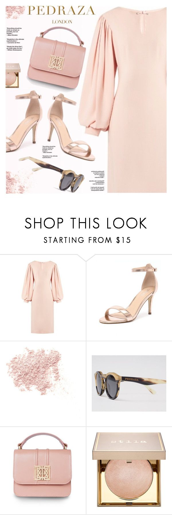 """Pedraza London"" by yexyka ❤ liked on Polyvore featuring Osman, Verali, Bare Escentuals, Stila, PedrazaLondon and Pedraza"