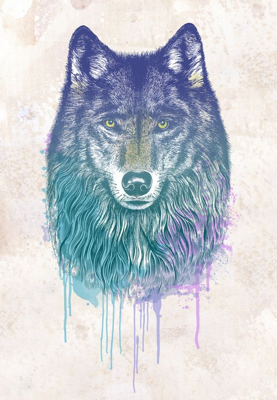 Poster | I DREAM OF WOLF von Rachel Caldwell
