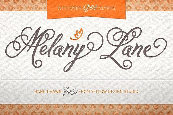 Melany Lane Fonts by Yellow Design Studio on @creativemarket
