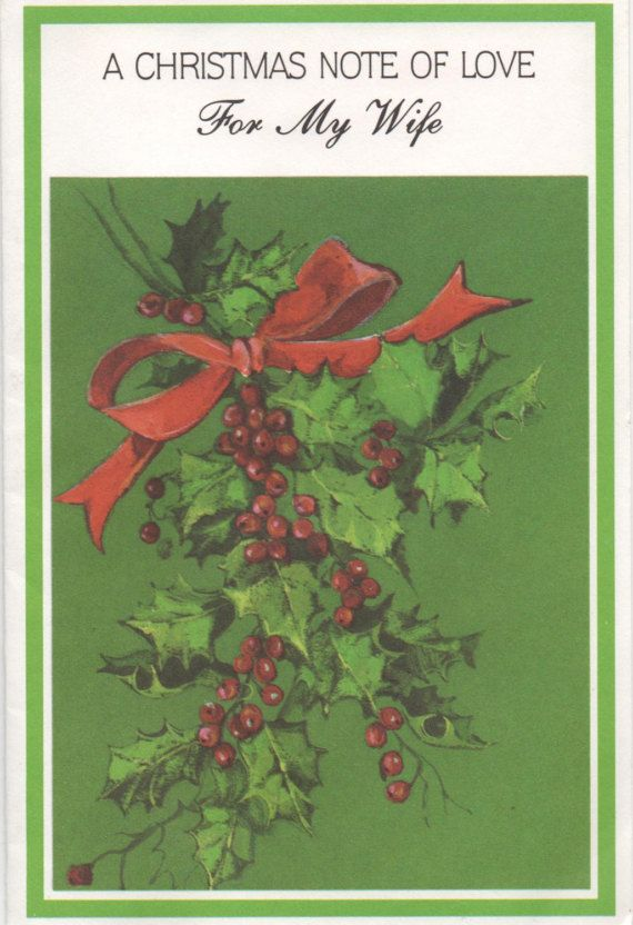 Used Gibson Christmas Card For My Wife. . . c1980s good