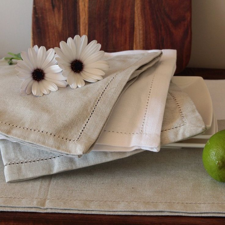 Napkins - Cotton Linen Blend - Beige in a set of 6