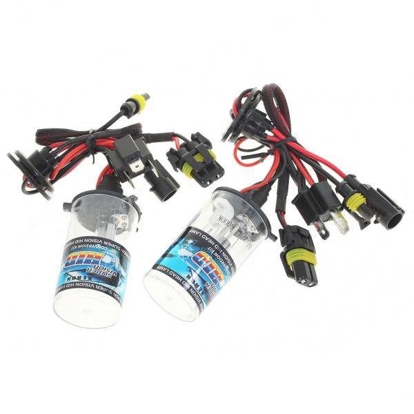 [US$16.99] Pair H4 35W Vision Xenon HID Vehicle White Light Bulb Headlamp Kit  #bulb #headlamp #light #pair #vehicle #vision #white #xenon