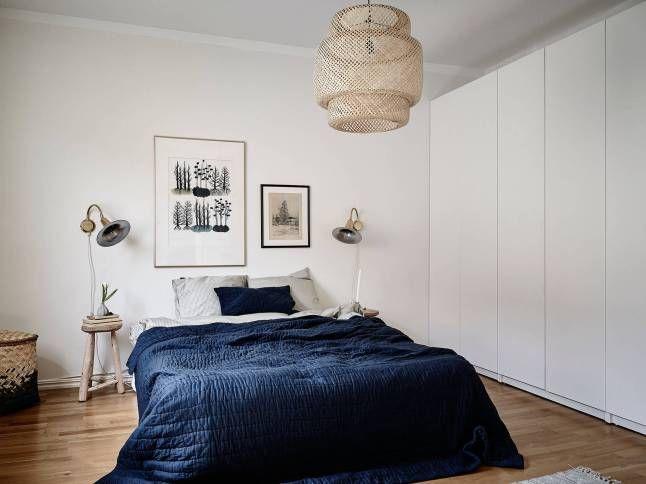 Ikea 'Sinnerlig' ceiling lamp in bedroom