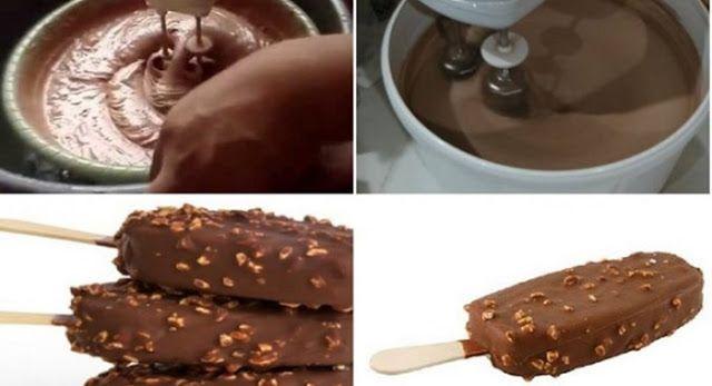 Resep Es Krim Coklat Rumahan Lembut Murah Dan Kesukaan Anak Buku Resep Online Food Chocolate Desserts