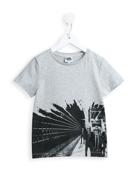 Karl Lagerfeld Kids 'Rock Chic Karl Silhouette' T-shirt