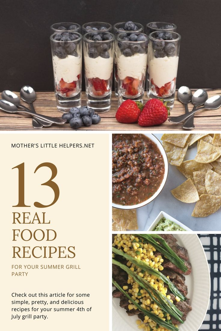 The Best Real Food Recipes for Your Summer Grill Party   4th of July Recipes   BBQ Recipes   Grill Party Recipes   Recipe Roundup  