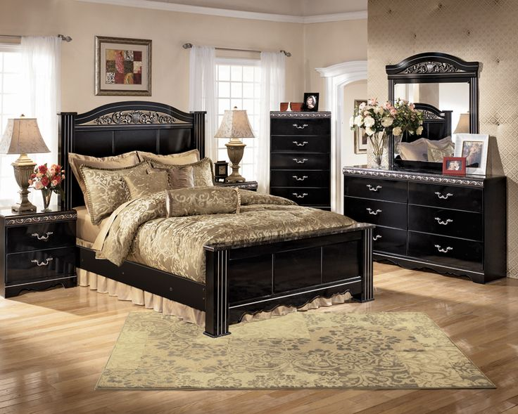 Ashley Black Bedroom Furniture a great bedroom layout using ashley furniture products