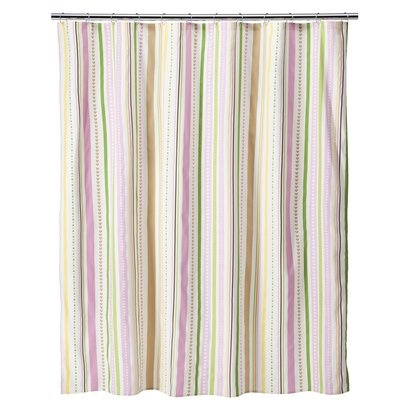 New Circo Love N Nature Collection Pink Green Striped Cotton Shower Curtain Ebay