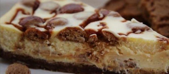 OVERHEERLIJKE Witte Chocolade Cheesecake Met Kruidnoten En Gezouten Karamel recept   Smulweb.nl