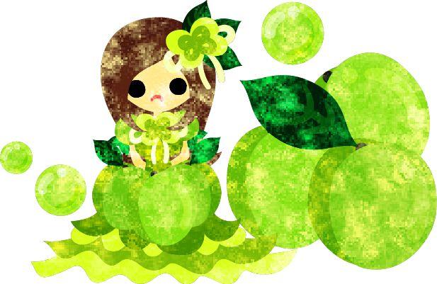フリーのイラスト素材梅の実のドレスを着た少女のイラスト Free Illustration The illustration of the girl in the plum dress http://ift.tt/1rcfjr3