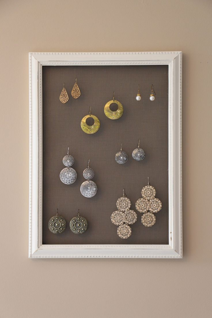 Chalk Paint Earring Holder / Rack! Get 10% off with coupon code: PINTEREST10 http://etsy.me/1MIGzWs