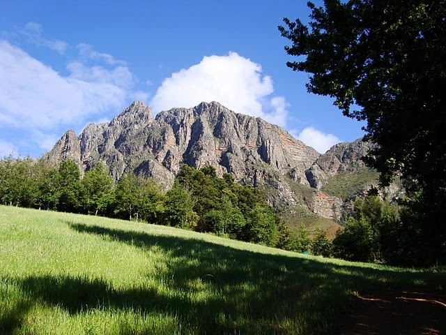 The Tulbagh Mountain in South Africa