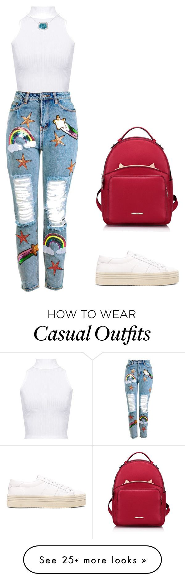 """""""young"""" by candynena228 on Polyvore featuring WearAll, Topshop, Mara Hotung, Yves Saint Laurent and WithChic"""
