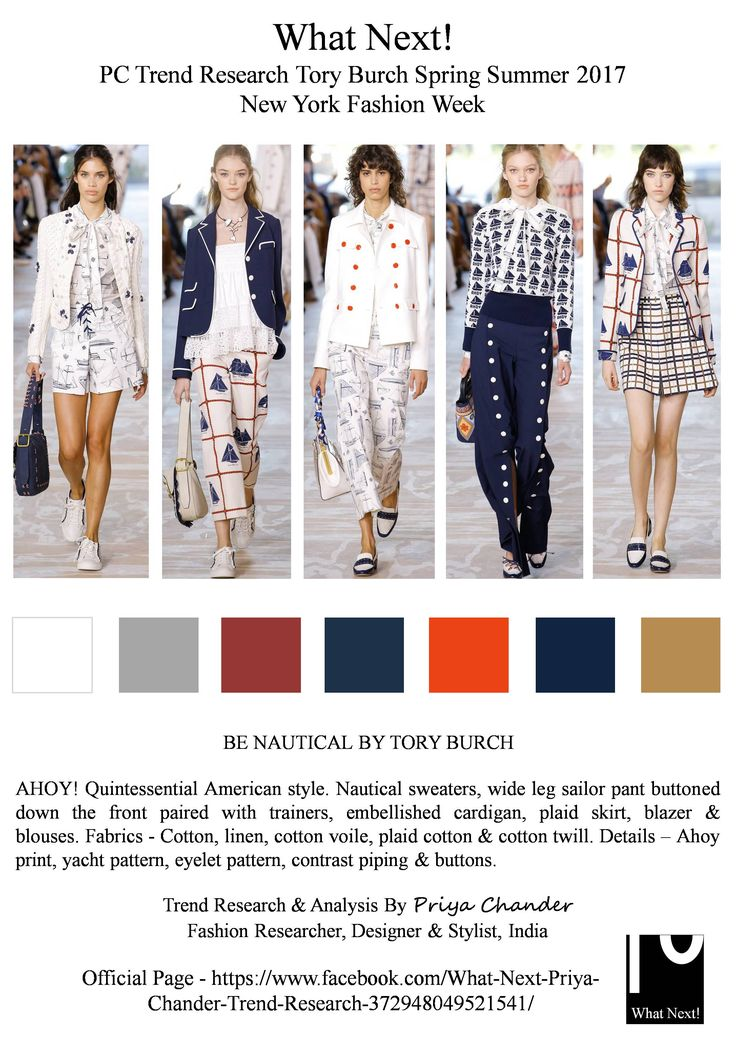 #ToryBurch #ToryBurchSS17 #SS17 #NYFW #nautical #ahoy #navublue #white #womenswear #Americanstyle #fashionresearch #fashionindustry #fashionweek #moda #plaid #cotton #linen #printedtops #Malibu #Manhattan #TheWhitneyMuseum #AmericanArt #priyachander #sailortrousers #fashiontrends #tedencias #TimBlanks #runway #spring2017 #trainers #voile #prints