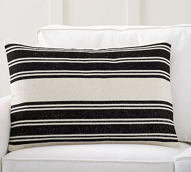 awning stripe dhurrie lumbar pillow cover potterybarn outdoor throw