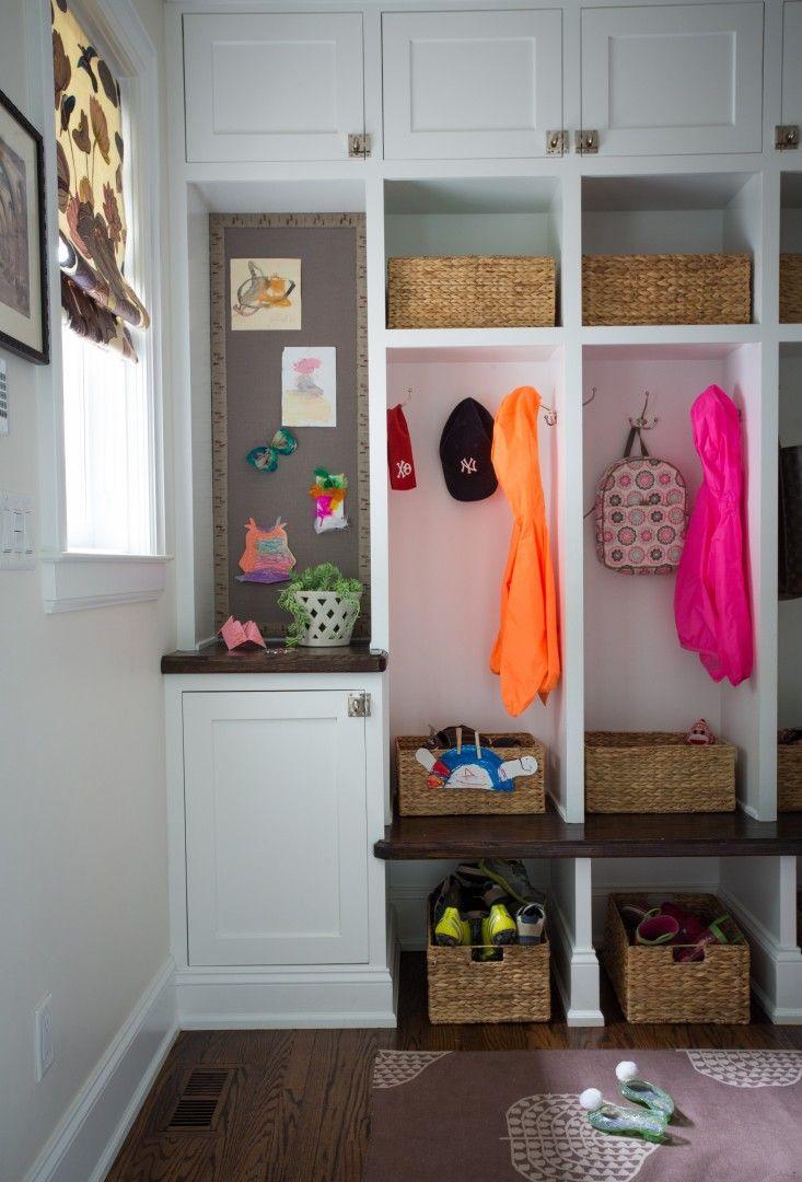 mudroom | Krista Nye Schwartz of Cloth & Kind house in Ann Arbor | Remodelista