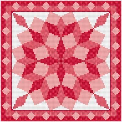 Free Cross Stitch Quilt Block Patterns | cross stitch pattern Round Tumbling Blocks