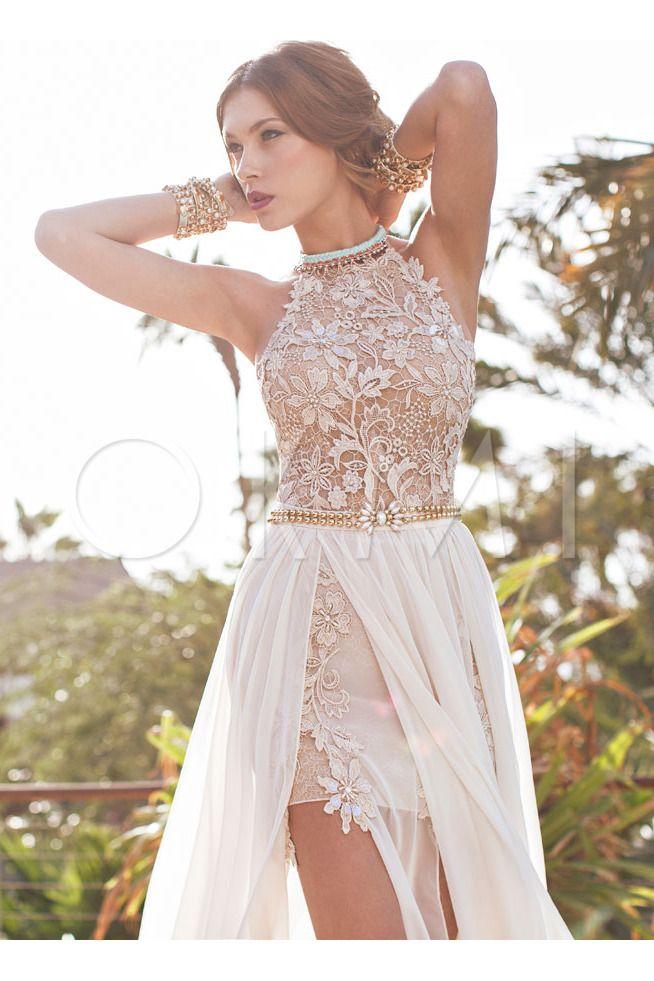 grande immagine Vestido de noiva Cauda Pequeno Bonitinho Gola Redonda