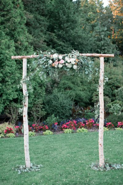 Simple and cute: http://www.stylemepretty.com/canada-weddings/british-columbia/vancouver/2015/05/22/romantic-spring-garden-wedding/ | Photography: Christie Graham - http://www.christiegrahamphotography.com/