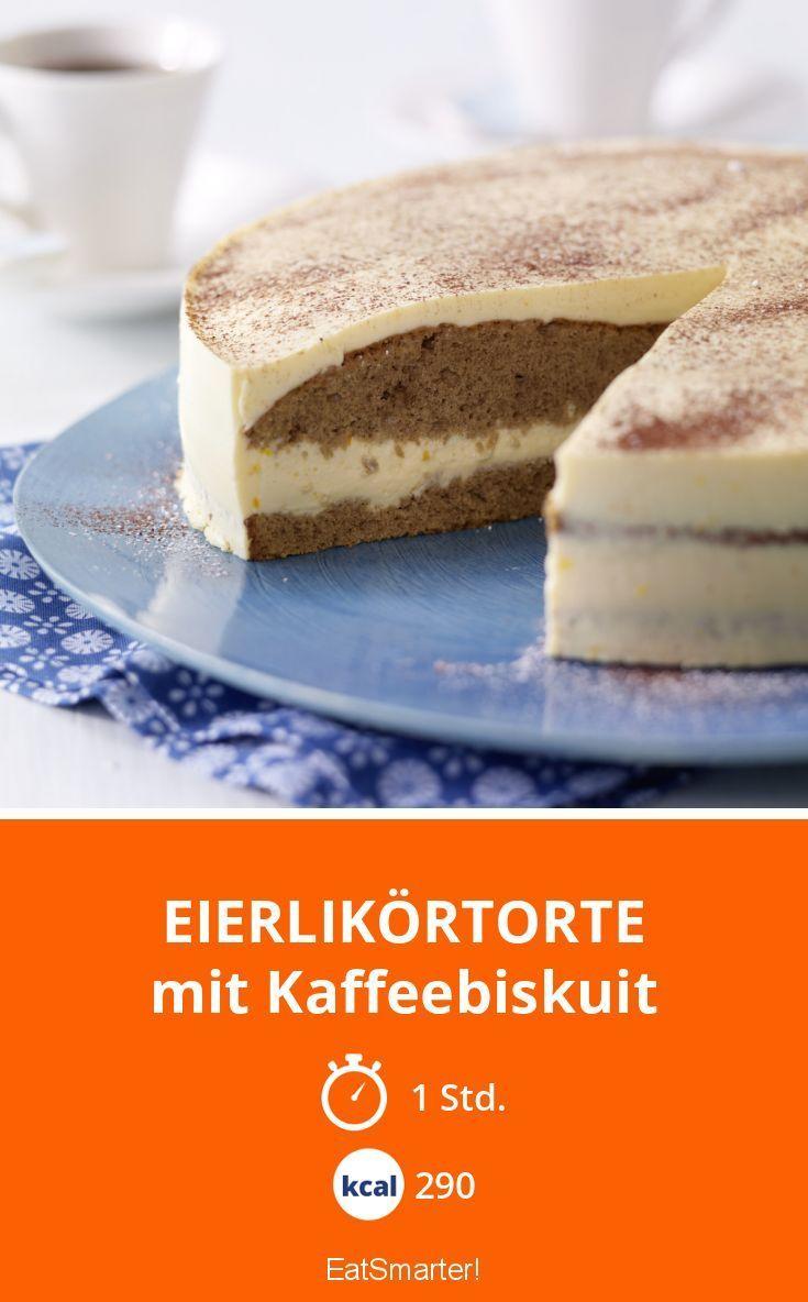 Eierlikörtorte - mit Kaffeebiskuit - smarter - Kalorien: 290 Kcal - Zeit: 1 Std.   eatsmarter.de
