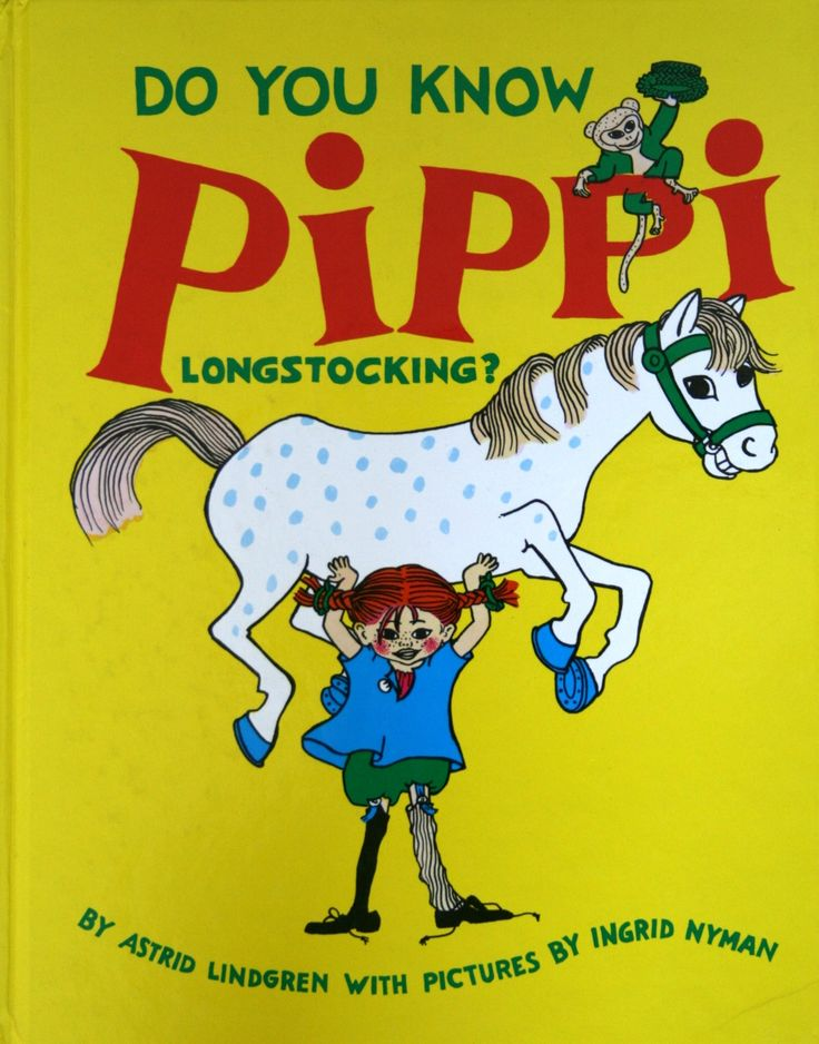 Pippi Longstocking - book cover. Pippi is every little girl's heroine - at least in all the Nordic countries.