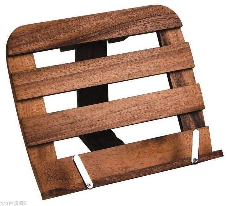 ACACIA WOOD RECIPE BOOK HOLDER HORIZONTAL - Acacia Bamboo Wood - Kitchenware