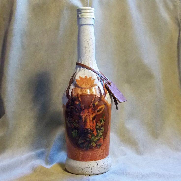 Lovecká fľaša Trofej hnedá