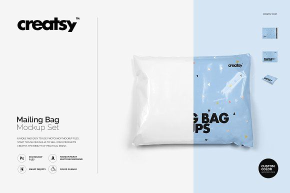 1821+ Horizontal Bag Mockup for Branding