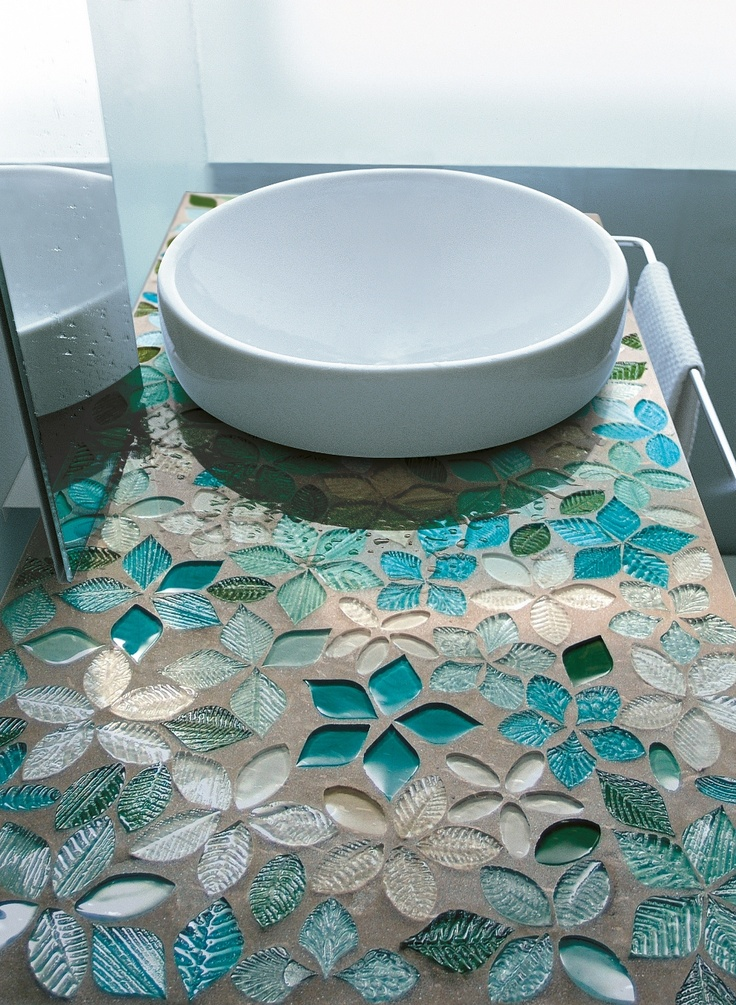 badkamer opbouwwastafel met Vetrovivo tegels