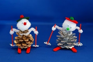 Art Project - pine cone people