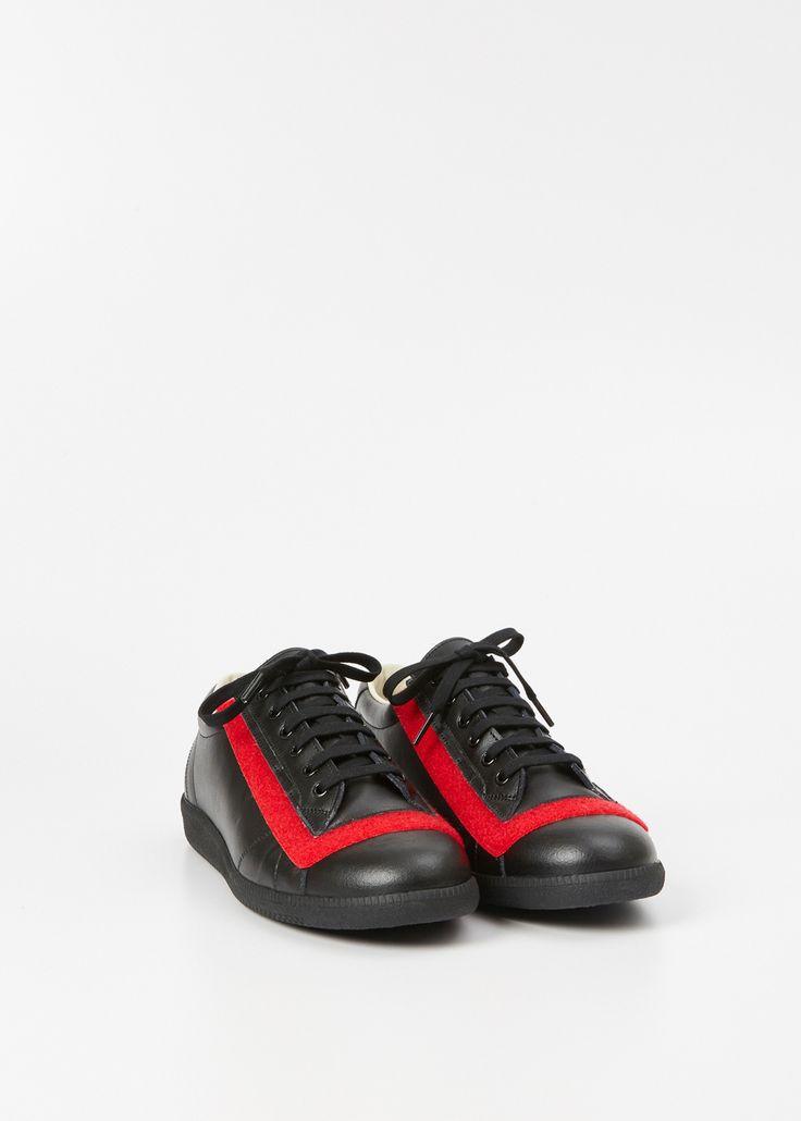 Maison Chaussures De Sport Margiela Réplique À Deux Tons Rouge - j1lFywXo